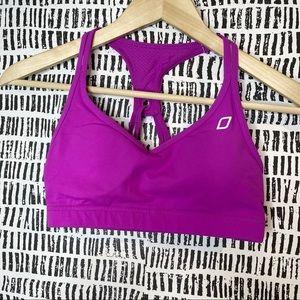 Lorna Janice purple racerback sports bra